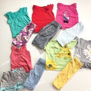 3T Girl Summer Casual Play Clothes Capris Tops